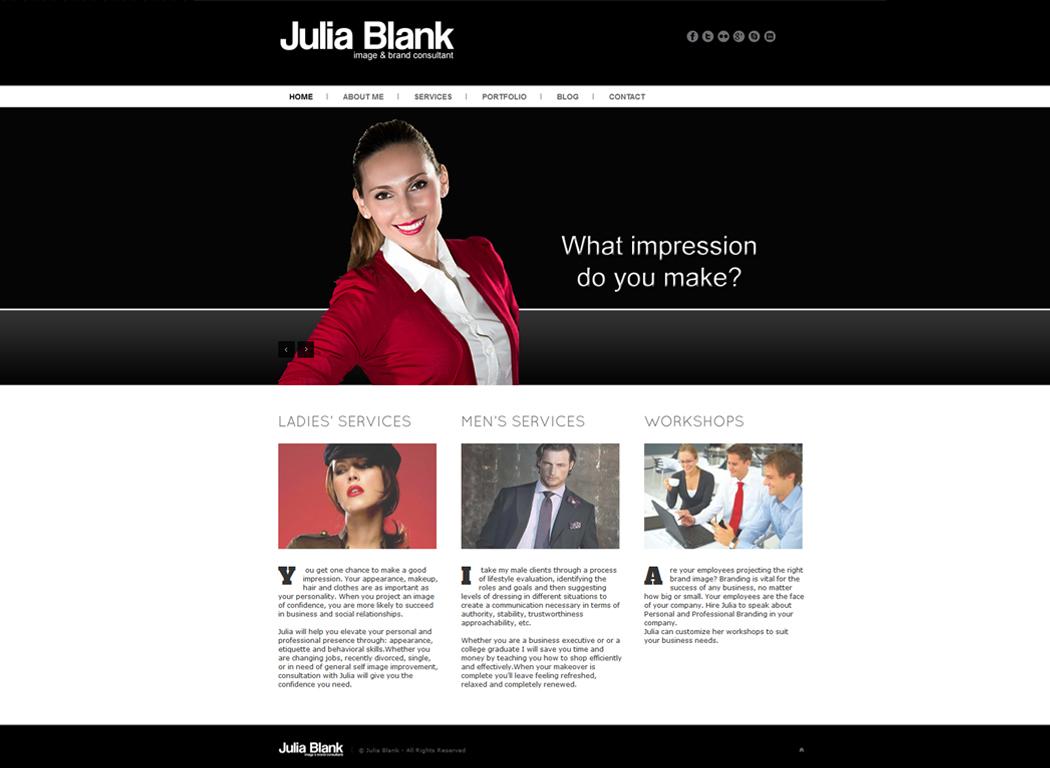 Julia-Blank.com Home Page