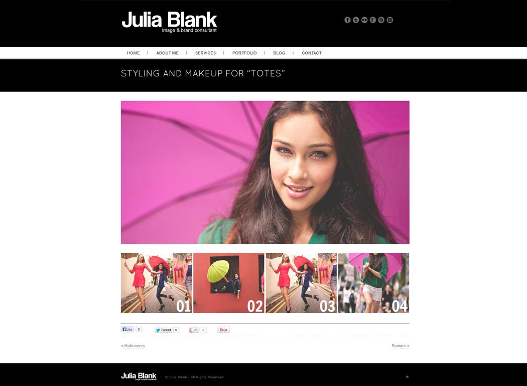Julia-Blank.com Portfolio Item