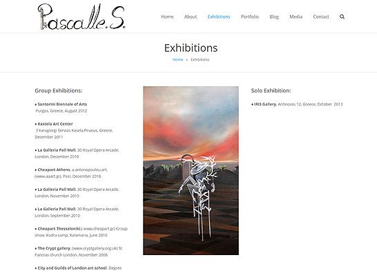 Pascalles.com - Exhibitions Page