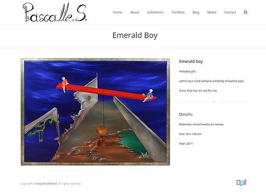 Pascalles.com - Portfolio Item Page